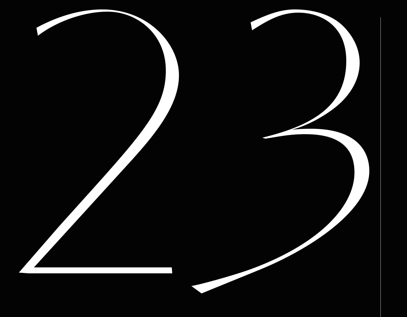 '23': Reflection Numbers