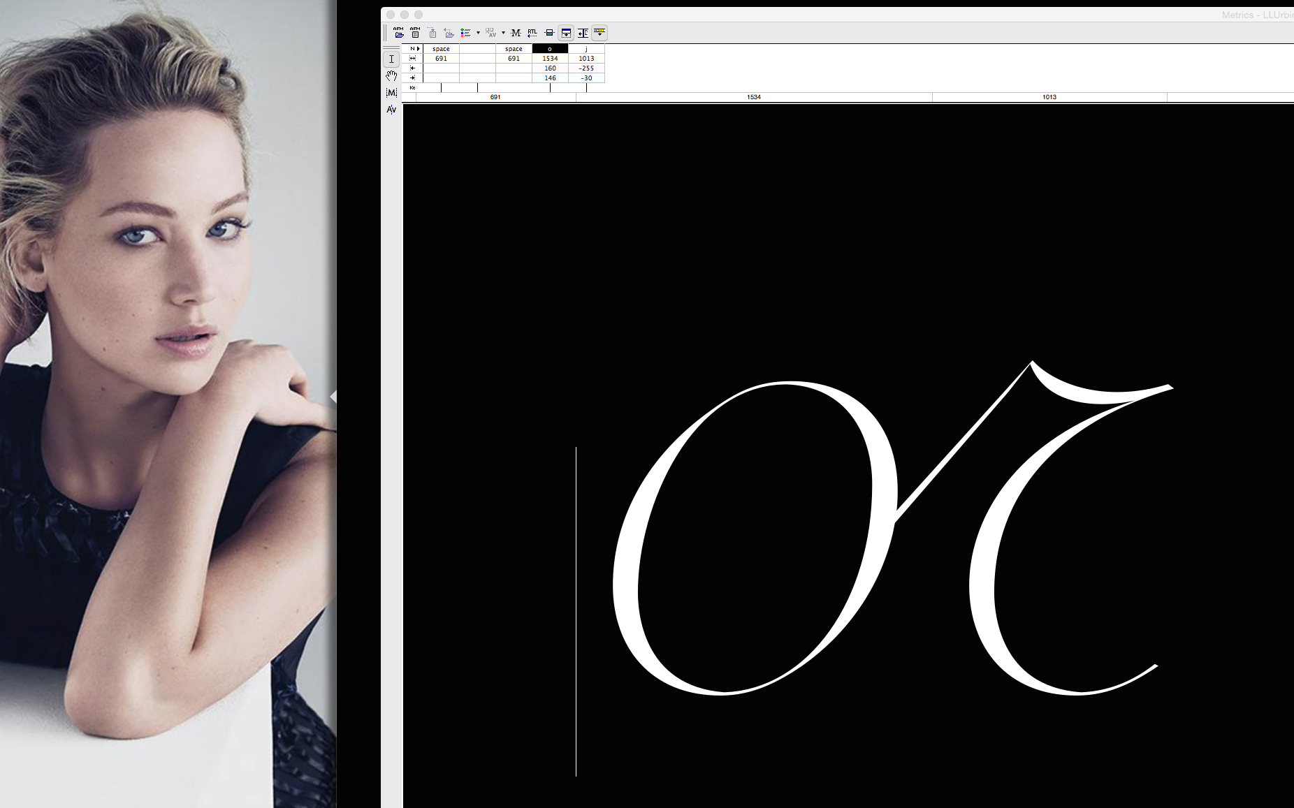Letter Spaces Testing for Screen Design: Dior Microsite (Personal Work)