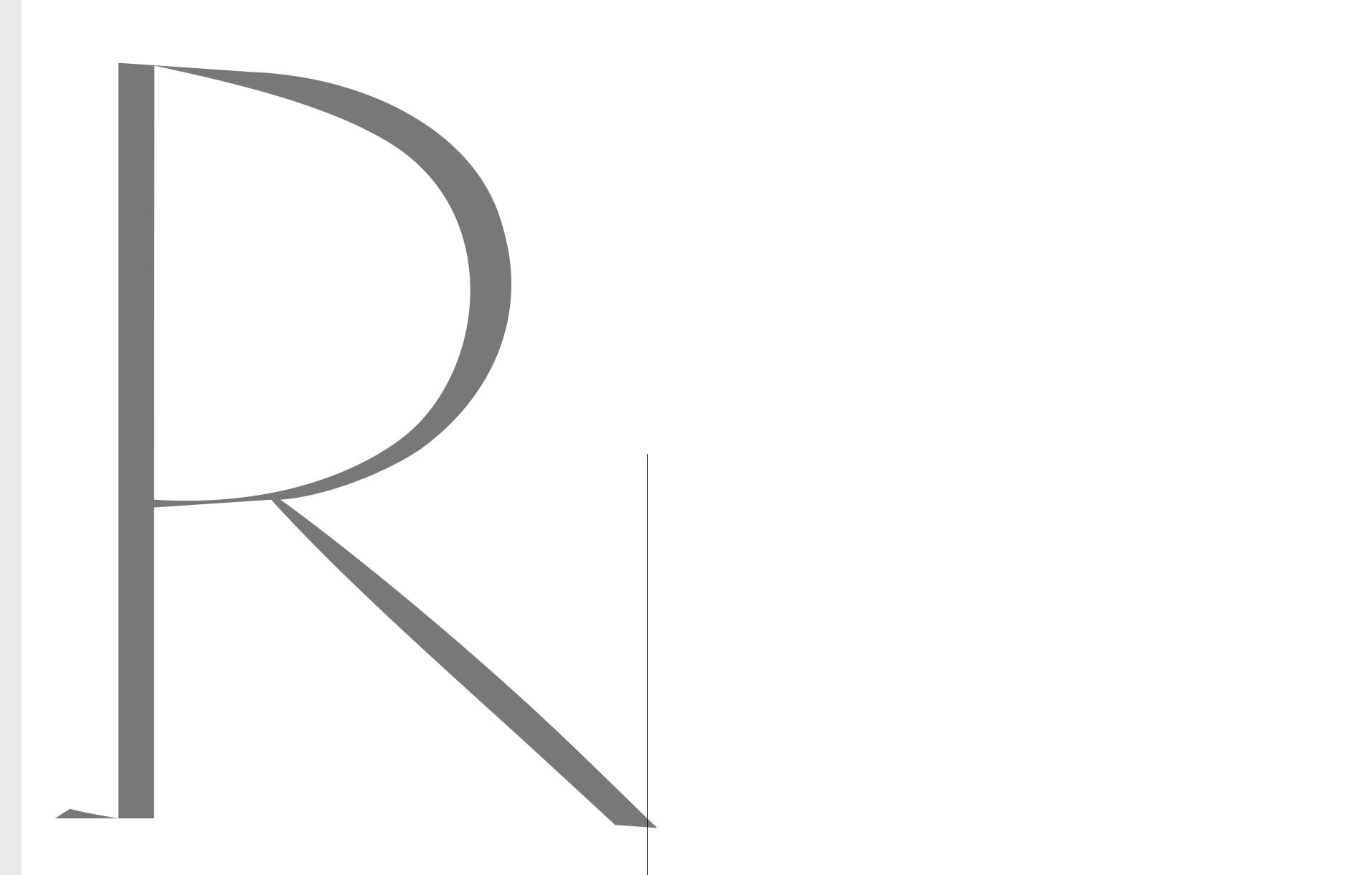 'R' Reflection Ecriture