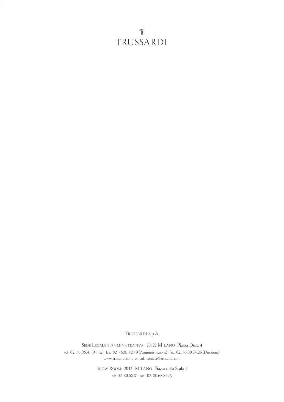 Trussardi Letter · Version Showroom