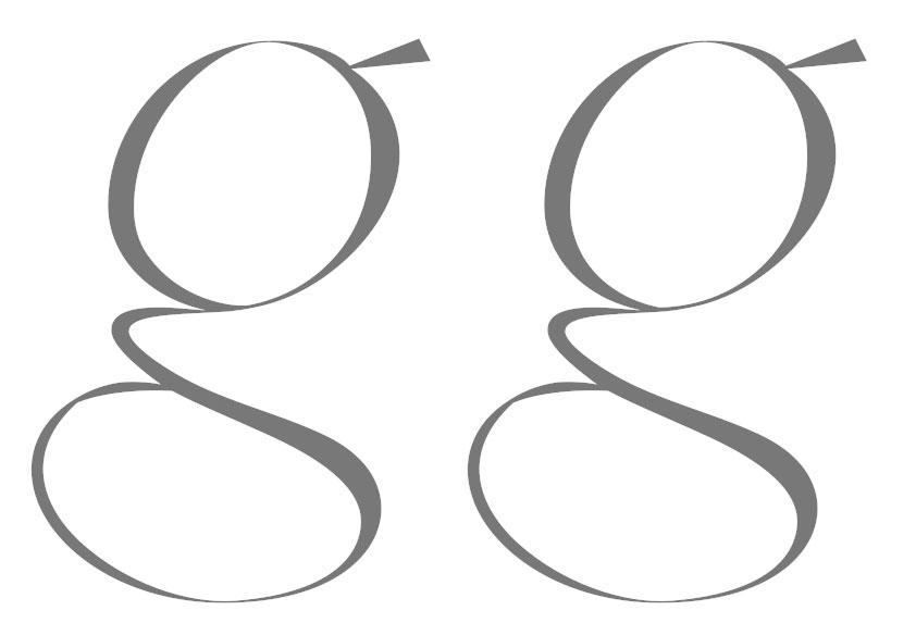 'gg': 'g' (links) Schwerpunkt verschoben