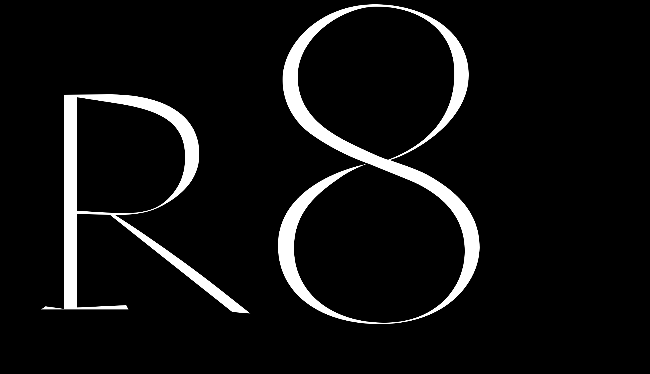 'r8': Letter Design Comparison in FontLab Metrics Window