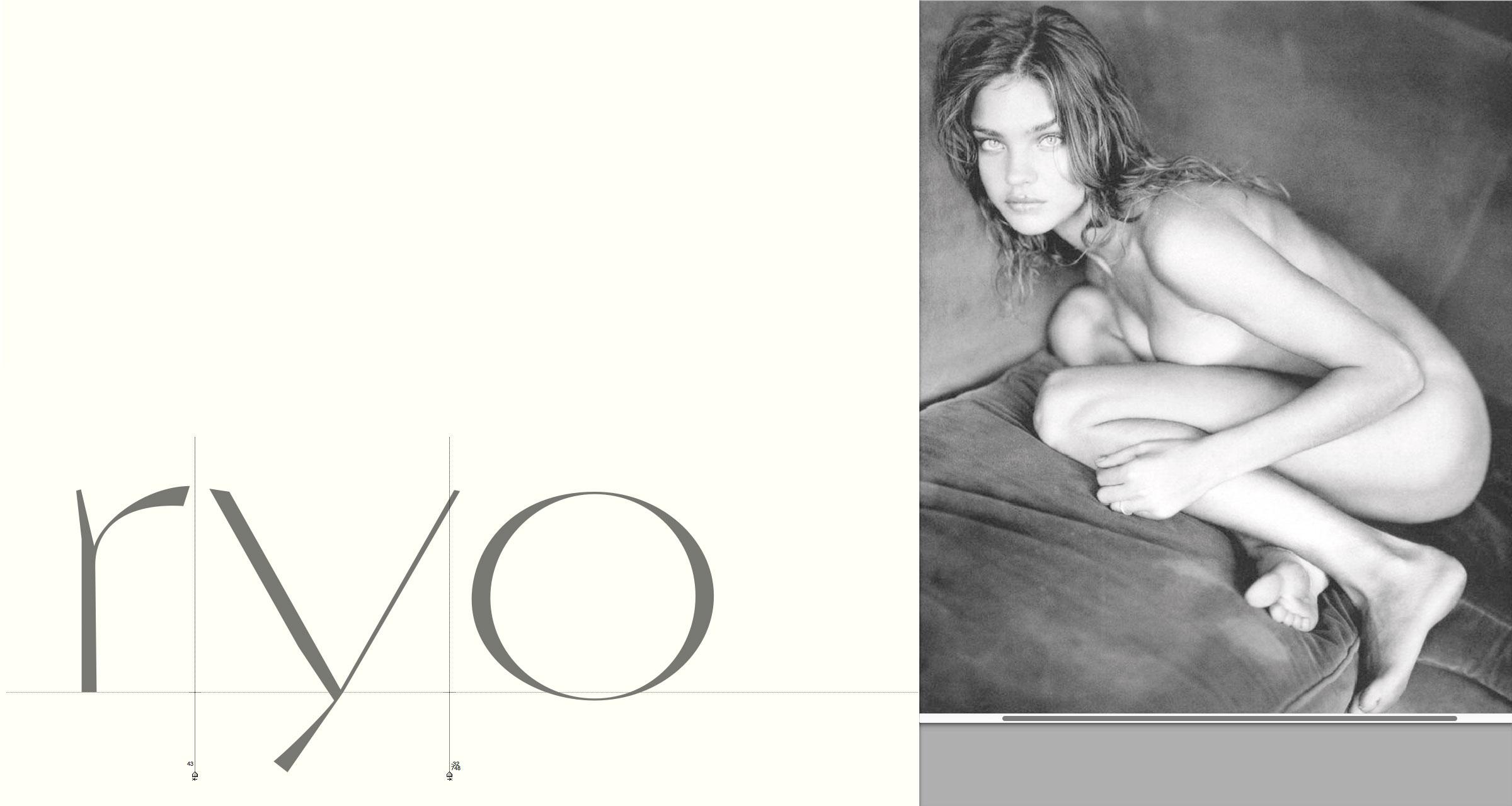 'ryo' Lowercase Letters · Spacing