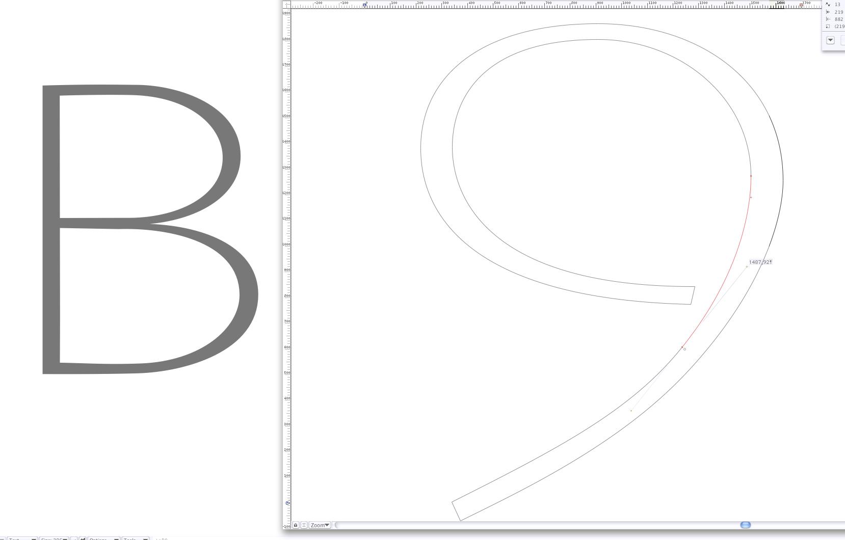 'B9' · Working on '9'