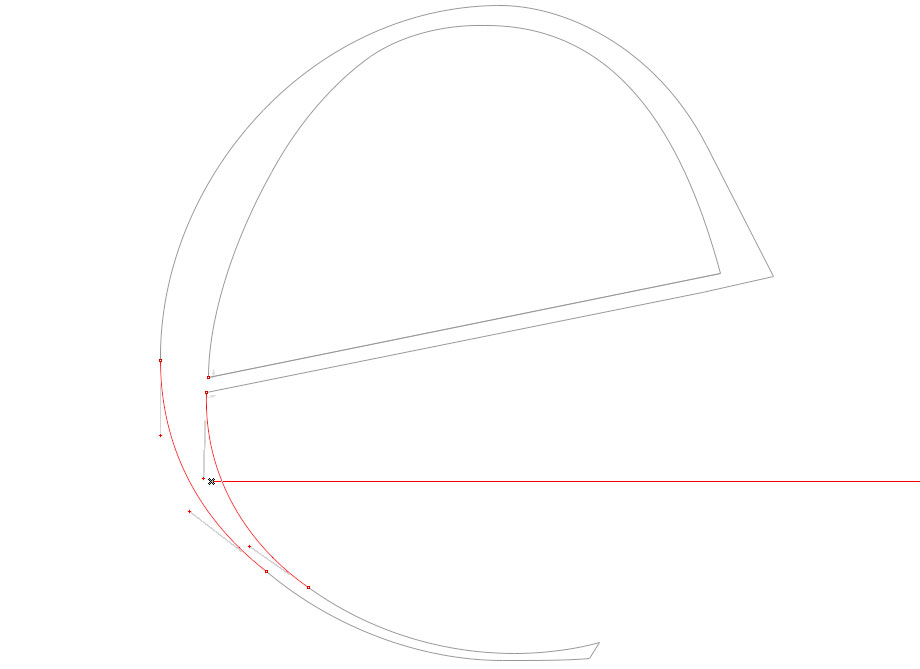 'e': Rotation Curve Segment