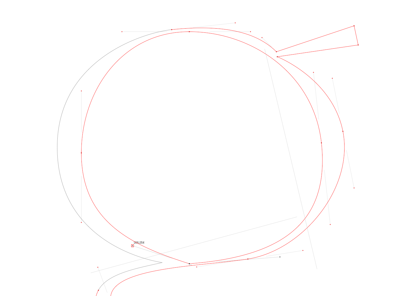 'g': Winding Bézier Structure (Process)