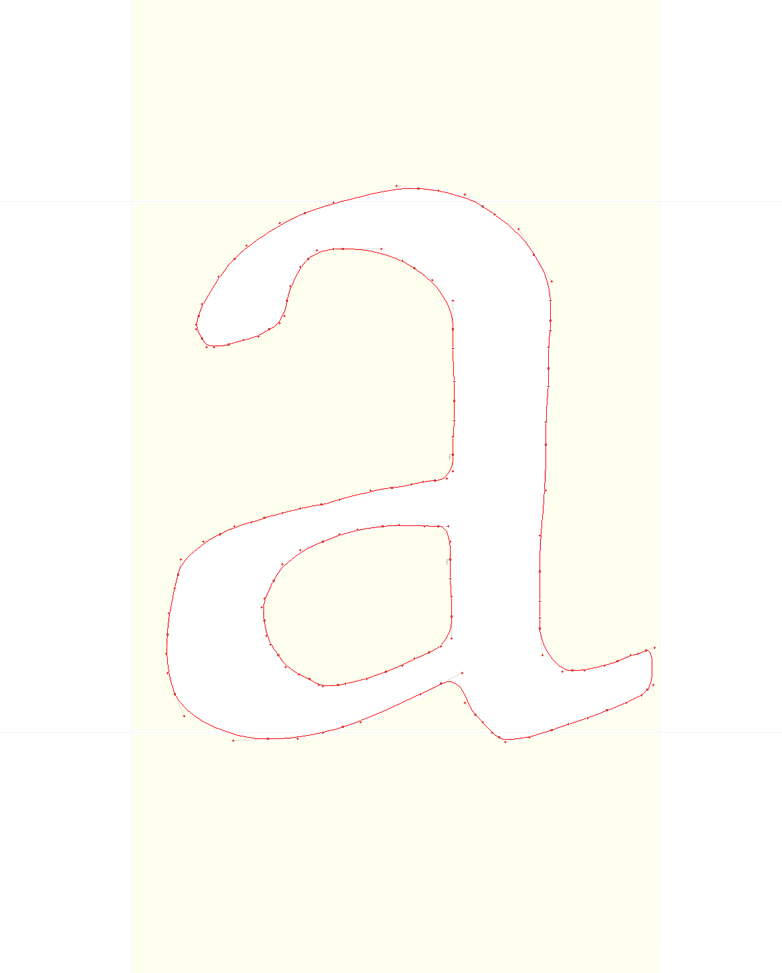 Rogers Centaur 'a' · Digital Raster* Curve Points