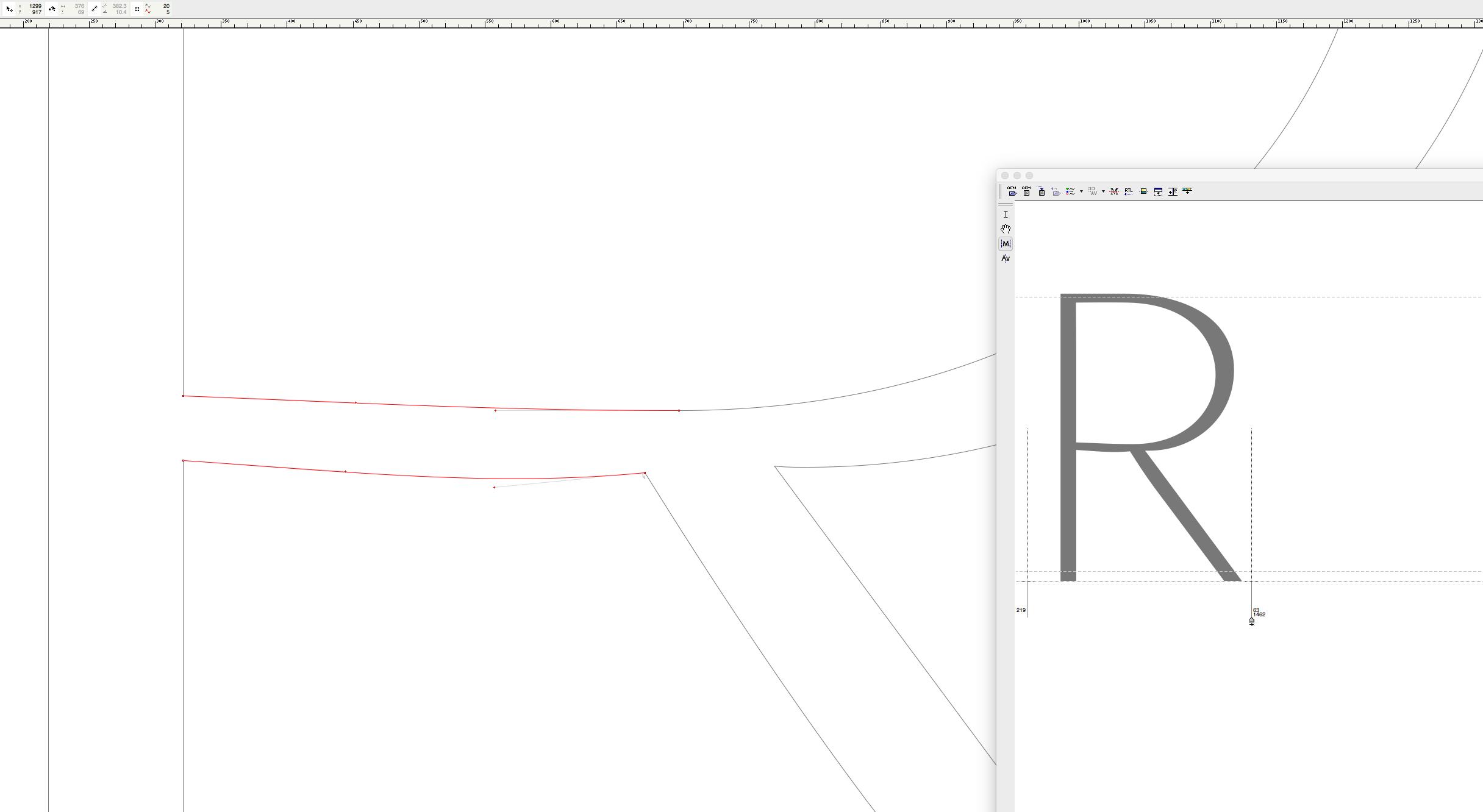 '<em>R</em>' · <em>Bézier</em> Detail