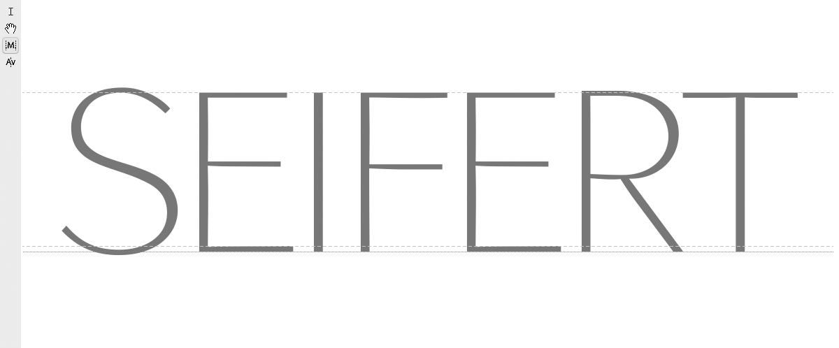 <em>Seifert</em> · Logotype Letters (part)
