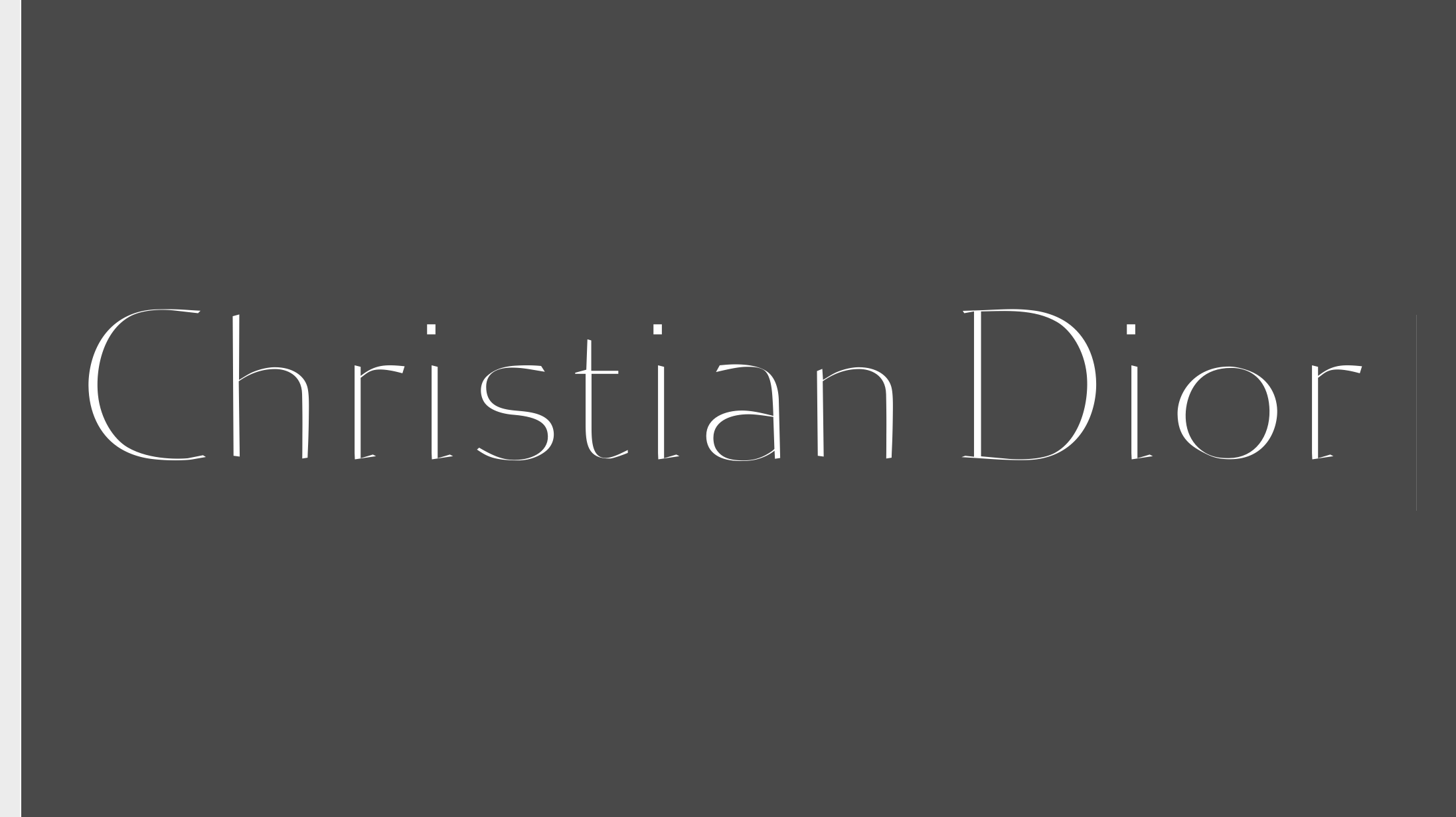 '<em>Christian Dior</em>' Metrics · <em>Reflection</em> Typeface