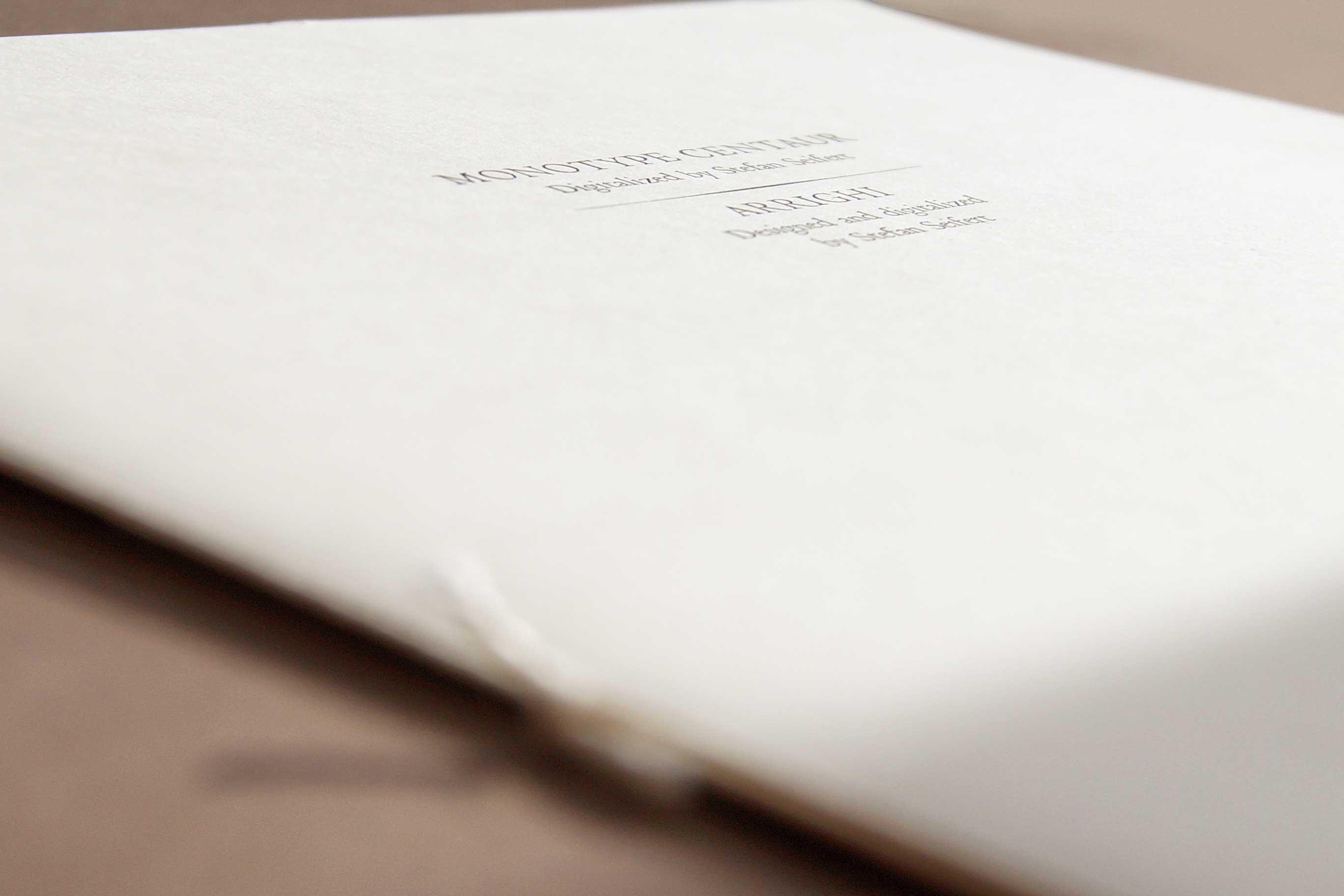 Hand Bound Booklet <em>Centaur/Arrighi</em>