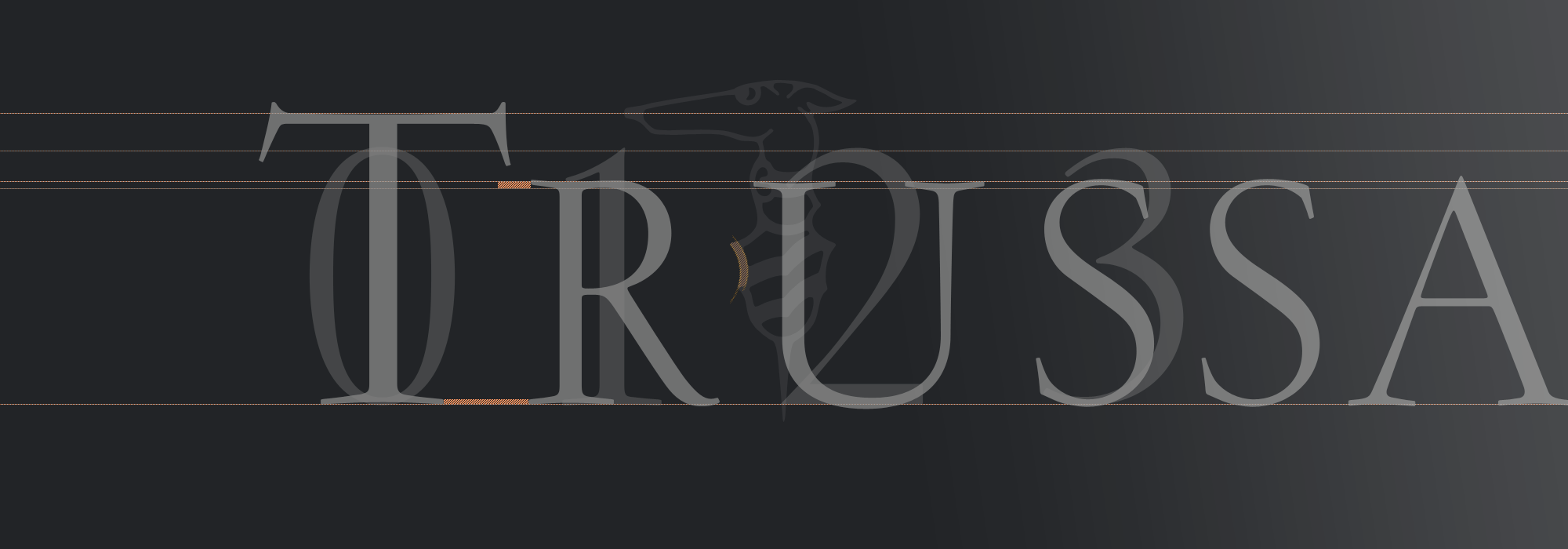 "Typeface Customization · <span class=""author"">Trussardi</span> Stationery"
