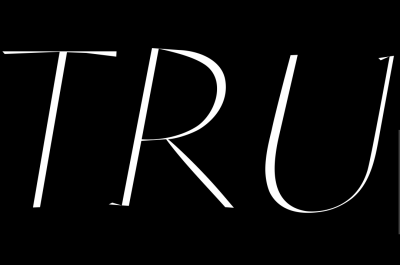 '<em>TRU</em>' Trussardi Lettering