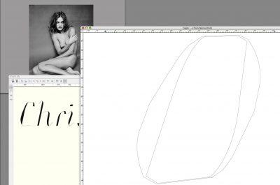 <em>Memoir Italic</em> Drawing Process
