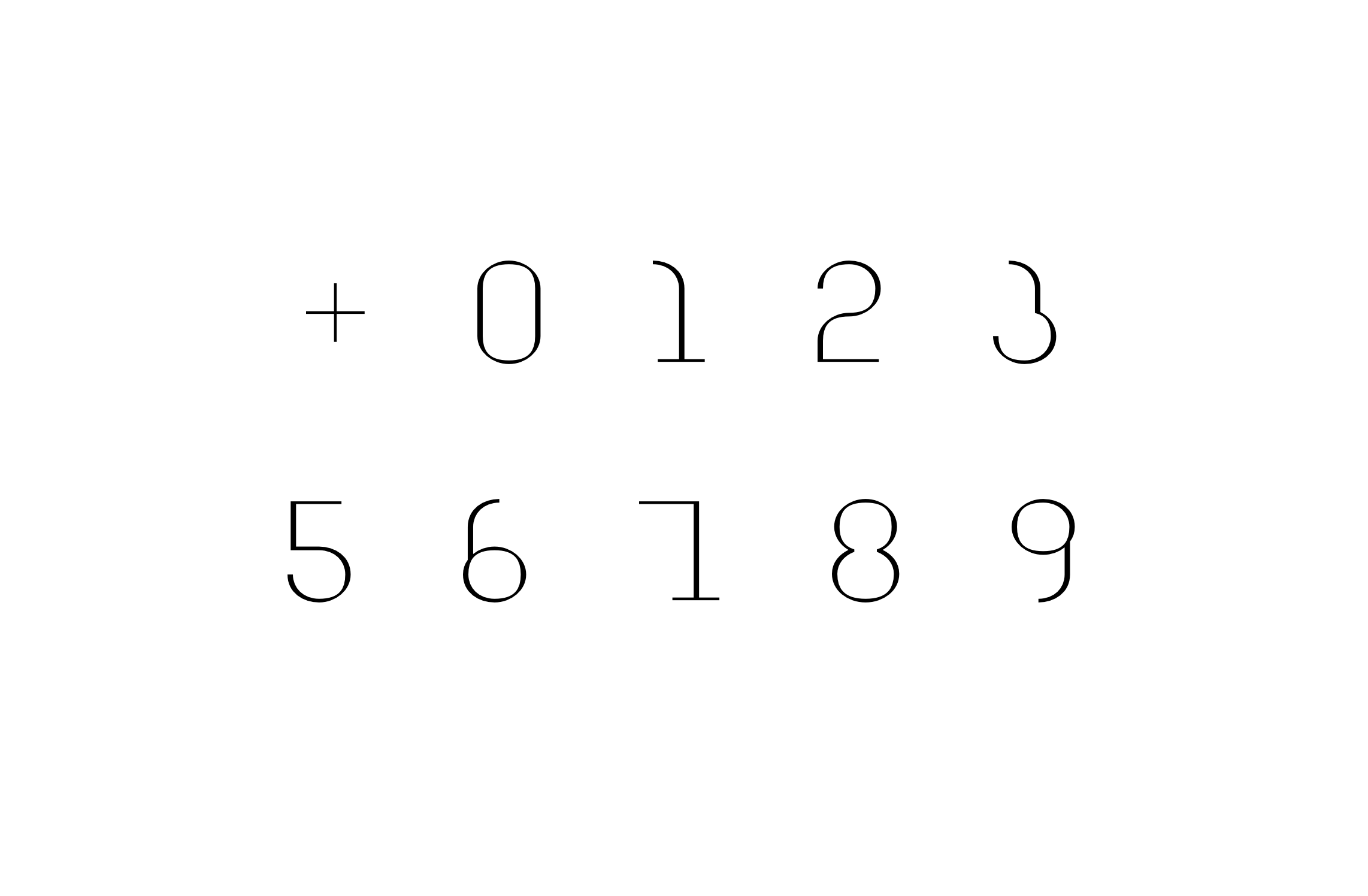 <em>Forward</em> Numbers (original font)