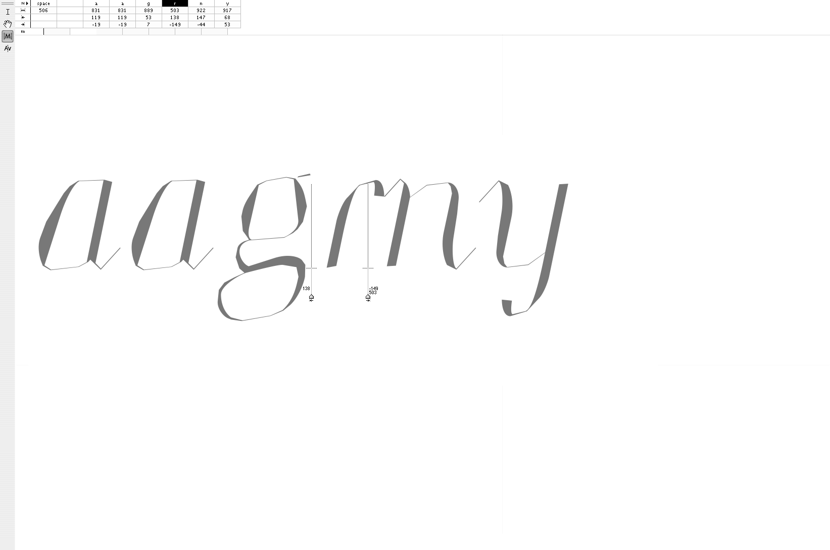 "'<em>aagrny</em>' · ""Melting"" Letters' Rhythm"