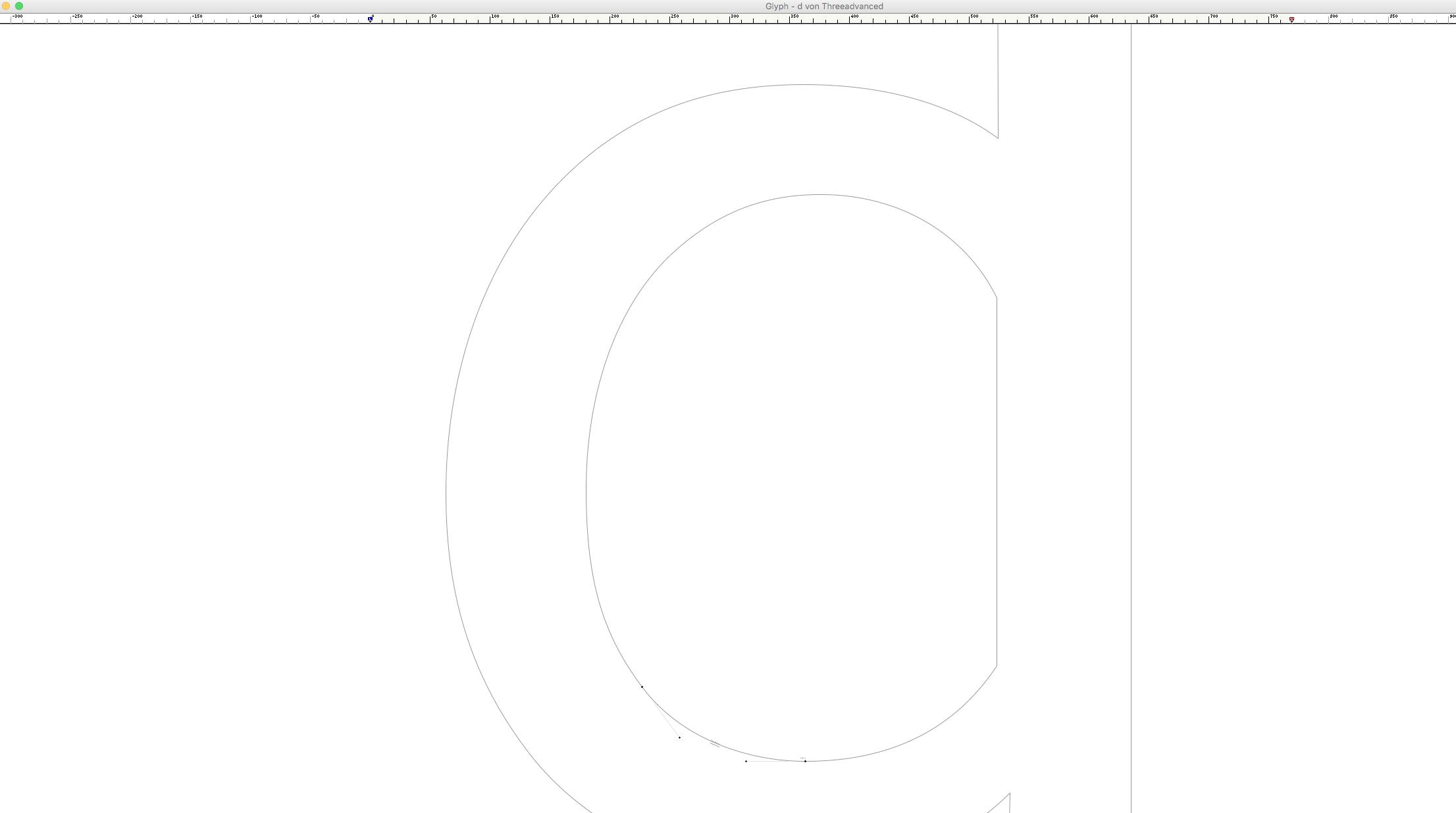 <em>Bézier</em> Adjustment Via Keyboard Arrows · Hidden <em>Glyph Window</em> Foreground