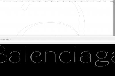 Working on <em>Girl Editor</em> for a <em>Balenciaga</em> lettering